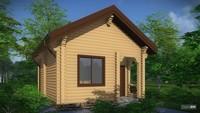 Архитектурный проект уютной бани