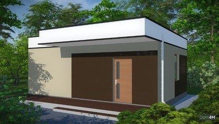 Архитектурный проект современной бани с кухонной зоной