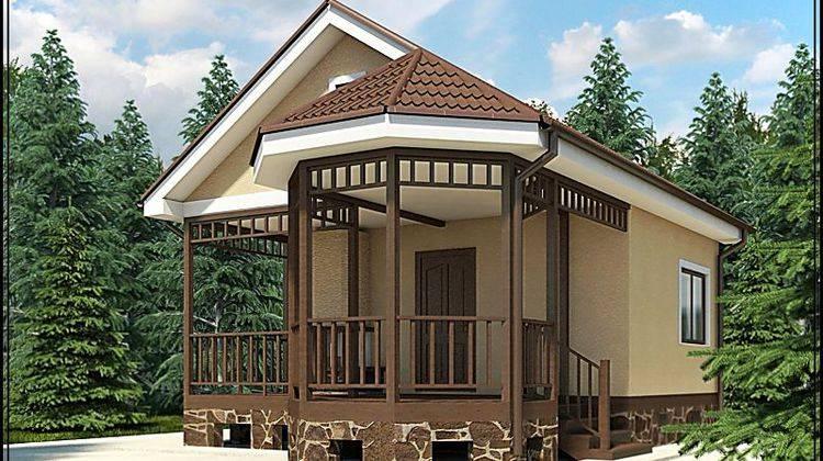Архитектурный проект для строительства комфортной бани с крытым крыльцом